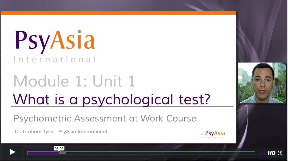 BPS Psychometrics Course