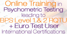 BPS Level 1 & 2 Psychometrics Training Online