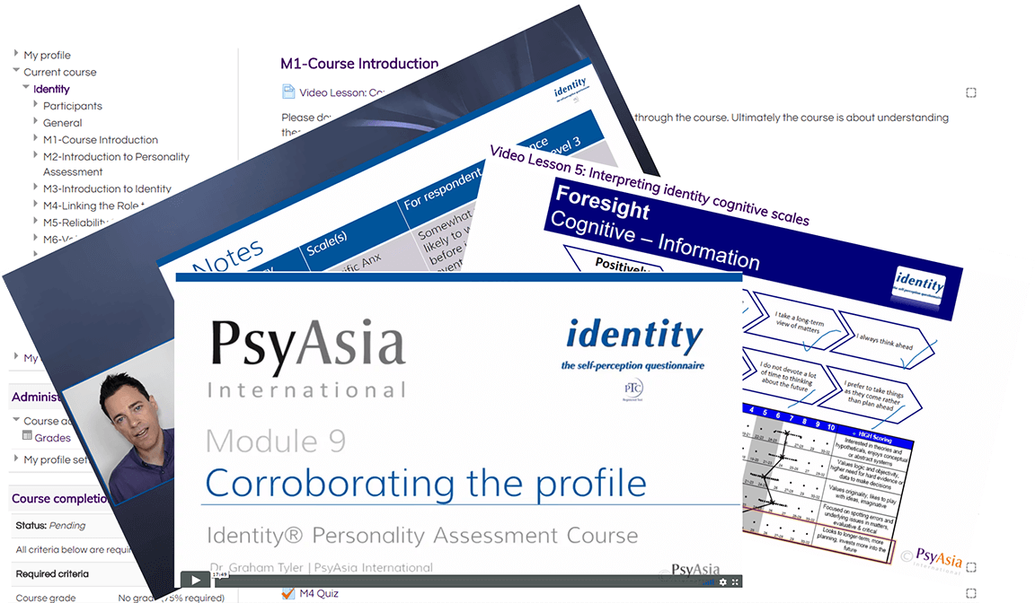 Identity Personality Assessment User Course: Online Training