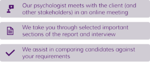Psychologist Recruitment Feedback
