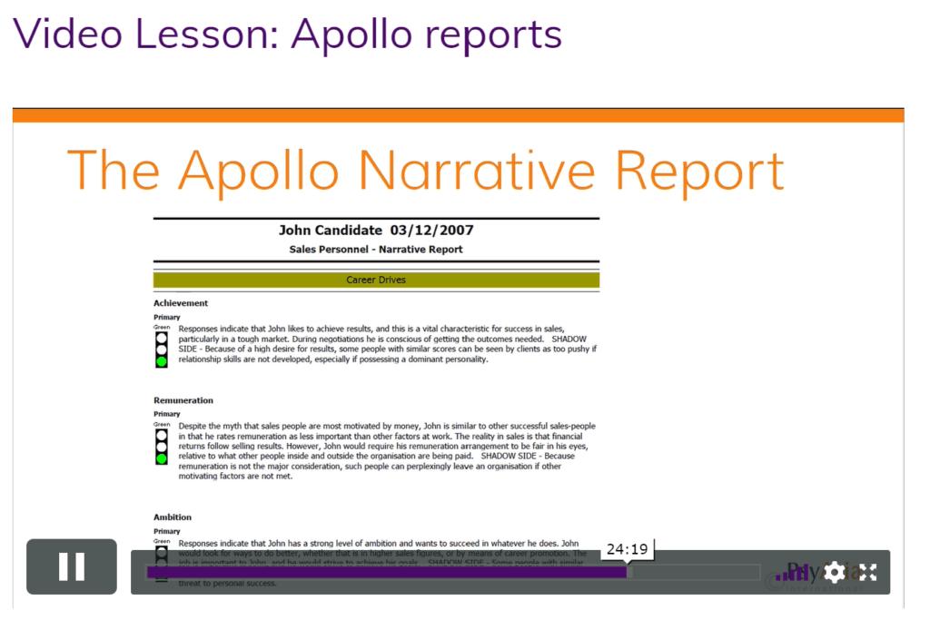 Apollo Narrative Report