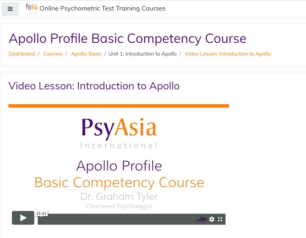 Apollo Personality Course
